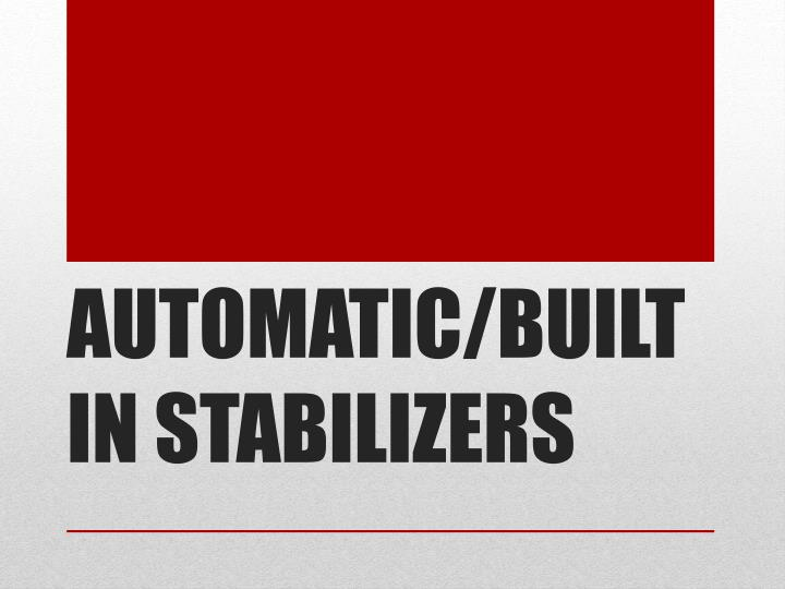 AUTOMATIC/BUILT IN STABILIZERS