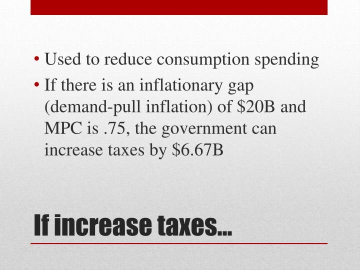 Used to reduce consumption spending