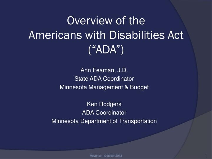 an overview of cancer as a disability under the american disability act ada