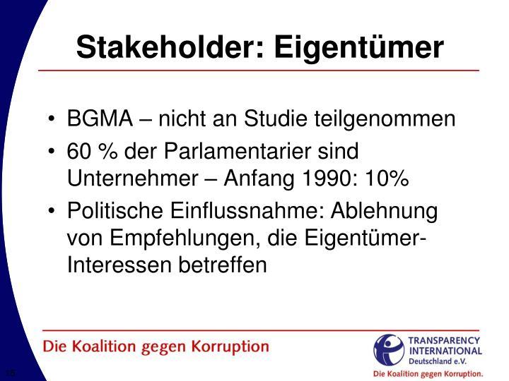 Stakeholder: Eigentümer