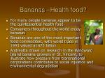 bananas health food