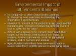 environmental impact of st vincent s bananas