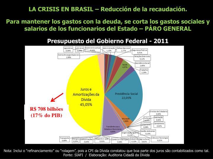 LA CRISIS EN BRASIL – Reducción de la recaudación.