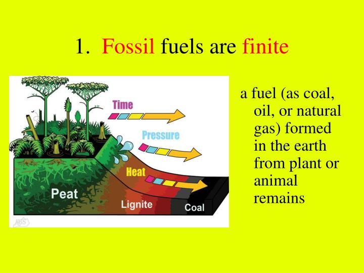 1 fossil fuels are finite