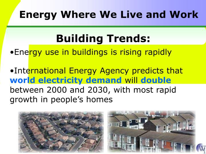 Energy Where We Live and Work