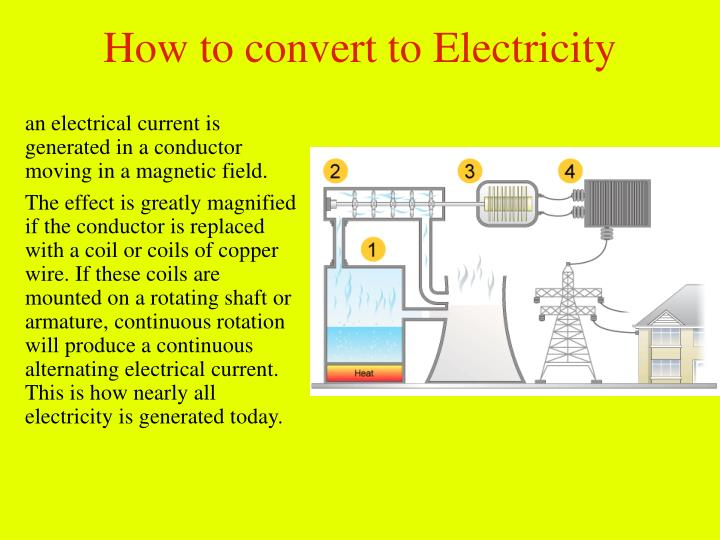 How to convert to Electricity