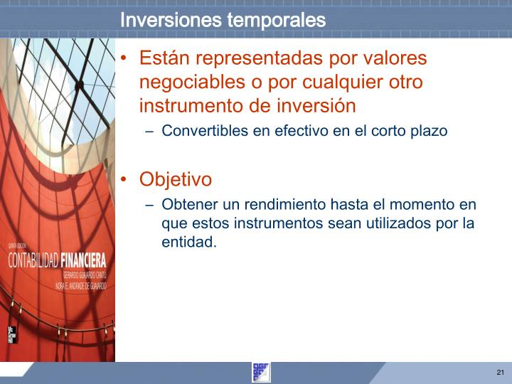 Inversiones temporales