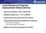 load research program assessment observations