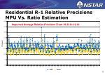 residential r 1 relative precisions mpu vs ratio estimation