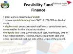 feasibility fund finance