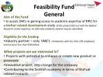 feasibility fund general