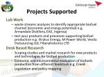 projects supported