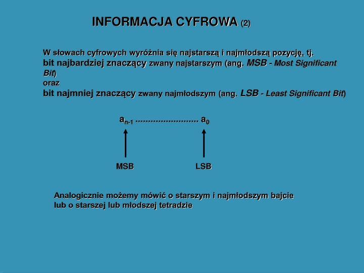 INFORMACJA CYFROWA