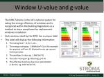 window u value and g value2