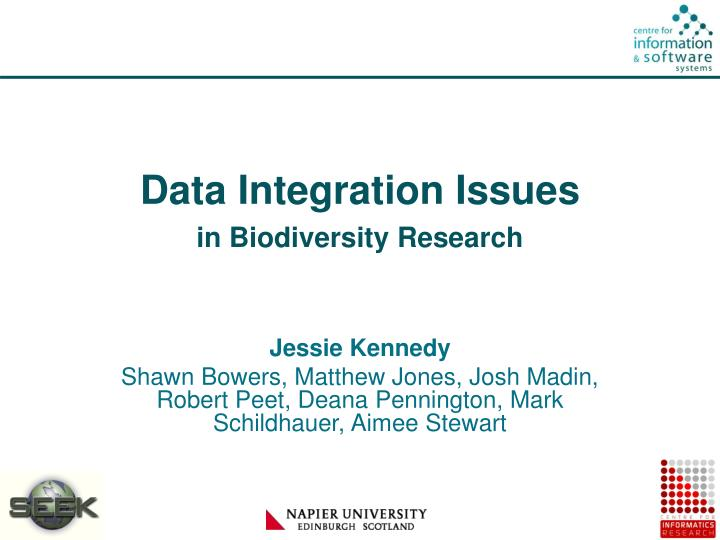 Data integration issues in biodiversity research
