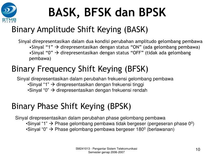 BASK, BFSK dan BPSK