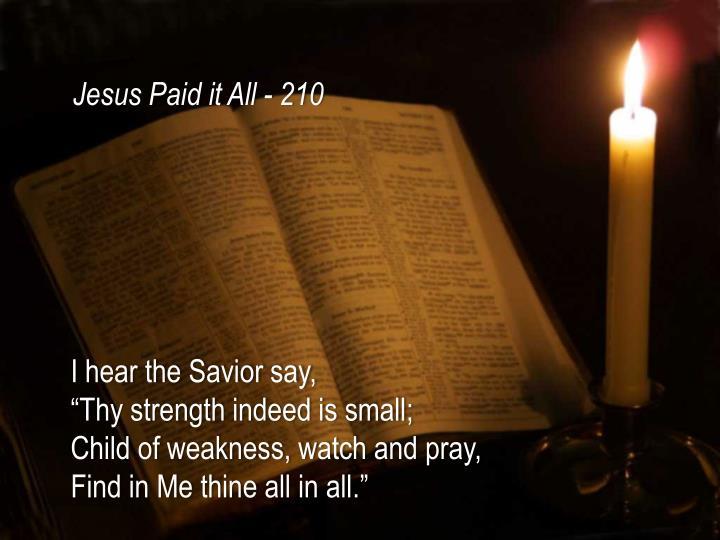 Jesus Paid it All - 210