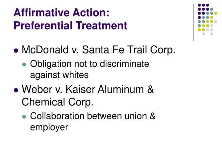 Affirmative Action: