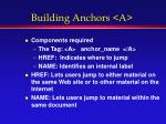 building anchors a