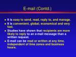 e mail contd