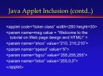 java applet inclusion contd1