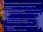 analysing database queries and transactions1