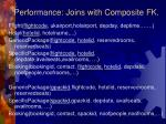 performance joins with composite fk