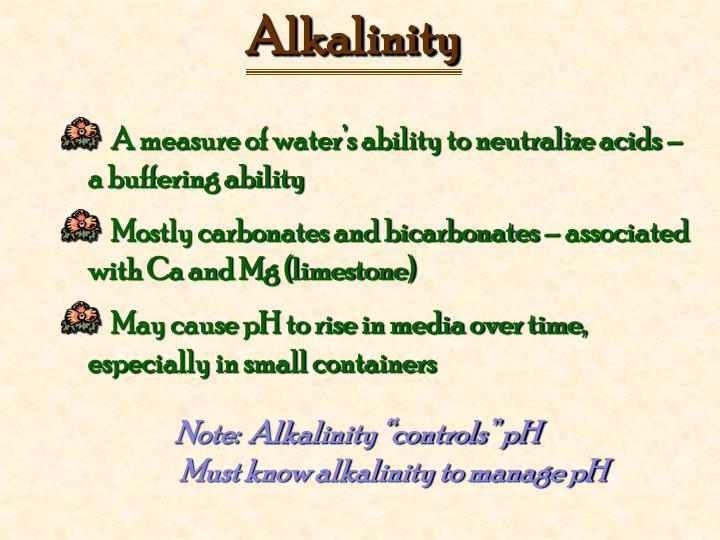 Alkalinity