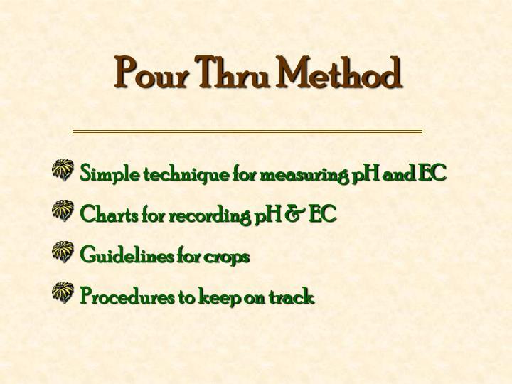 Pour Thru Method