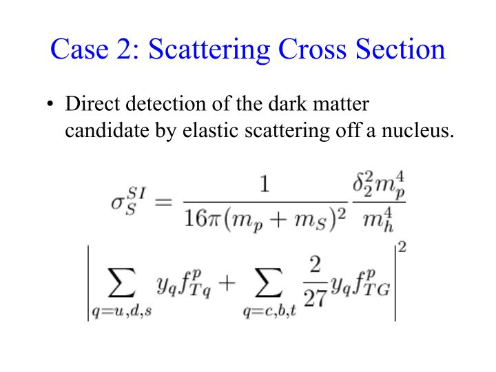 Case 2: Scattering Cross Section