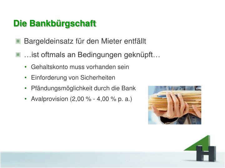 Die Bankbürgschaft