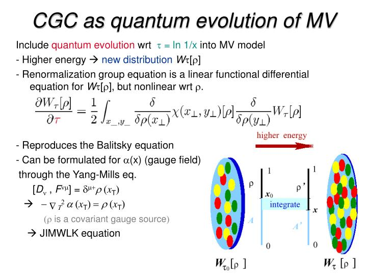 CGC as quantum evolution of MV