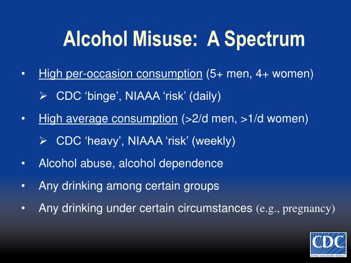 Alcohol Misuse:  A Spectrum