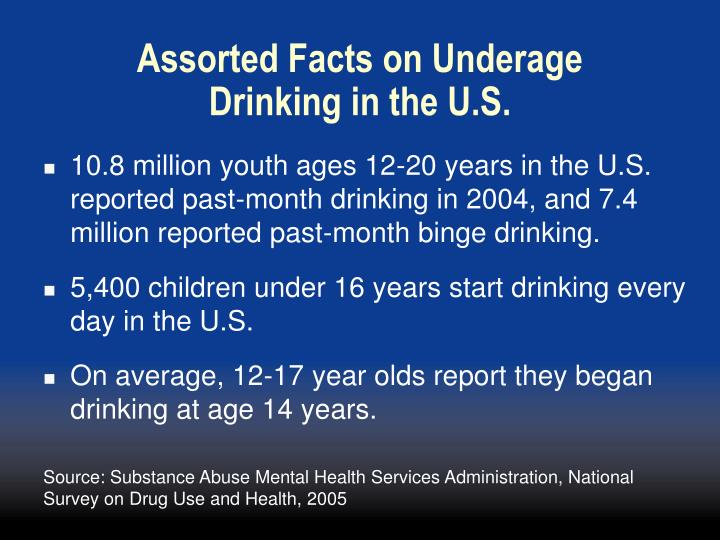 Assorted Facts on Underage Drinking in the U.S.