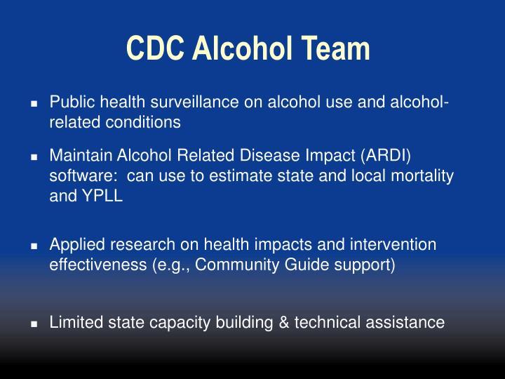 CDC Alcohol Team