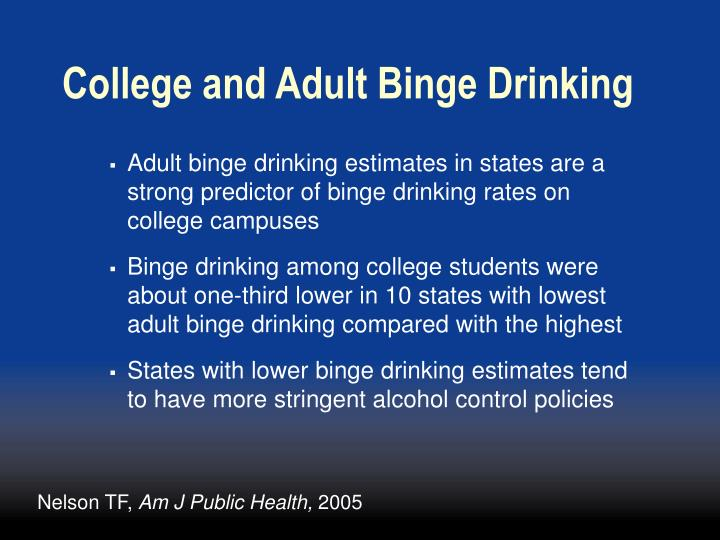 College and Adult Binge Drinking