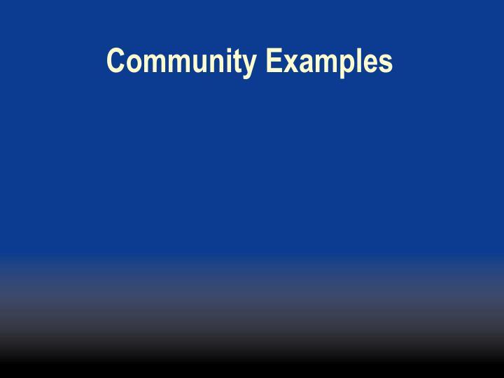 Community Examples