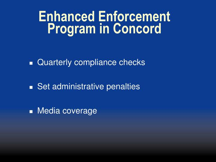 Enhanced Enforcement
