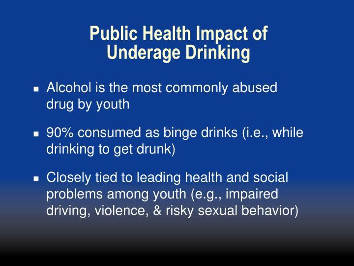 Public Health Impact of Underage Drinking