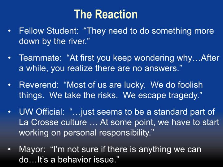 The Reaction