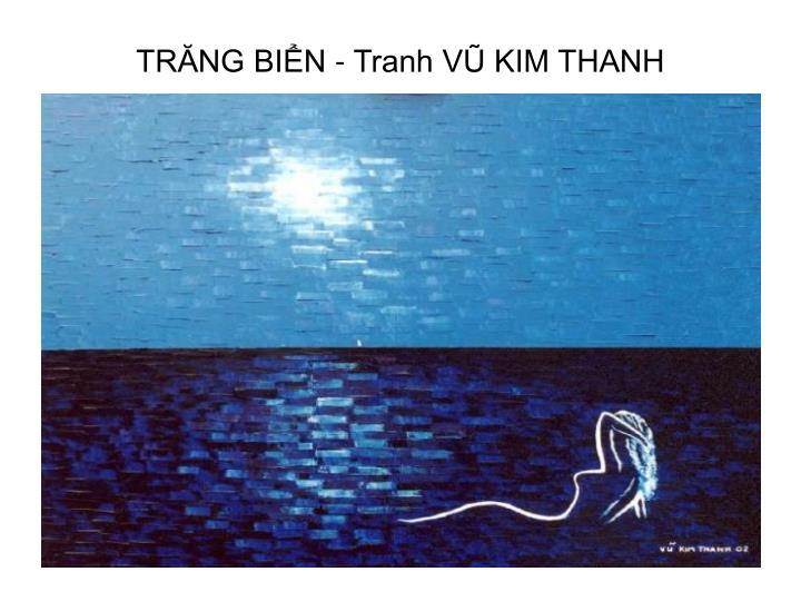 TRĂNG BIỂN - Tranh VŨ KIM THANH