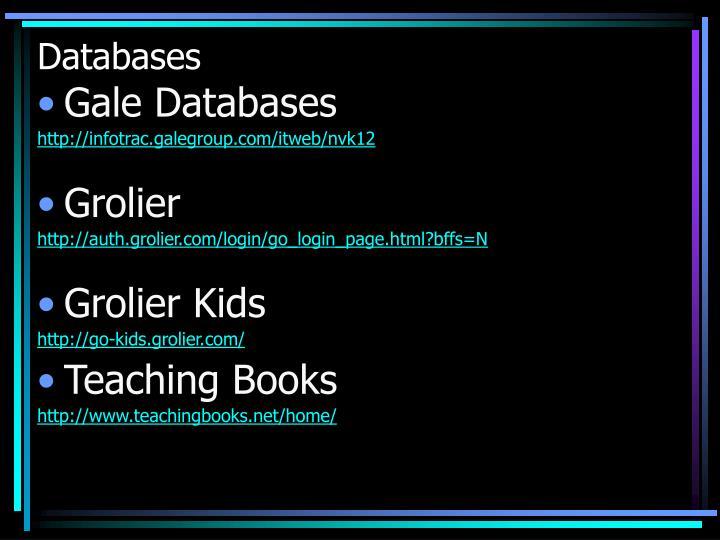 Databases1