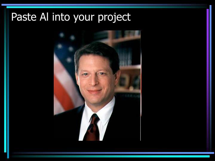 Paste Al into your project
