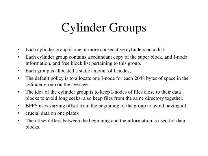 Cylinder Groups