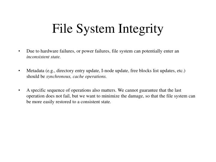 File System Integrity
