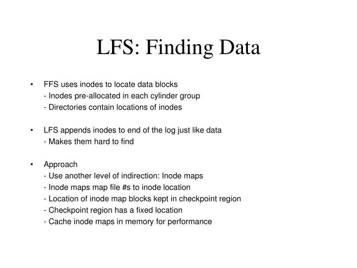 LFS: Finding Data