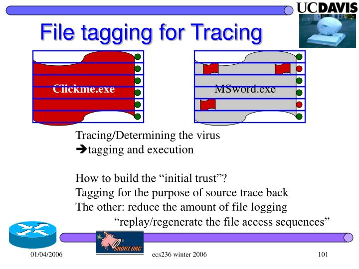 File tagging for Tracing