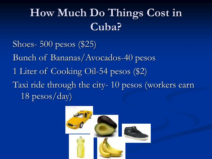 How Much Do Things Cost in Cuba?