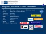 erfolgreiche investitionen deutscher unternehmen