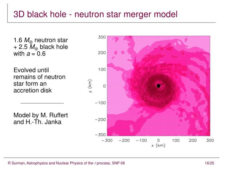3D black hole - neutron star merger model